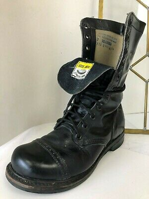 0e98f0d813f02 NEW WOLVERINE VULCAN LEATHER Black BOOTS Steel Toe Combat Biker ...