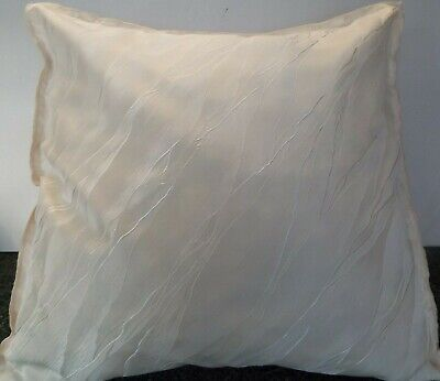 £10.99 For A Pair Of 24 Inch Extra Large Giant Cushion Cream Poly Satin  Design