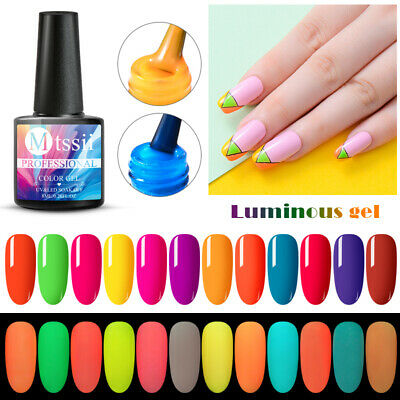 12Colors MTSSII Luminous Fluorescent Neon Gel Polish Soak Off UV Nail Varnish