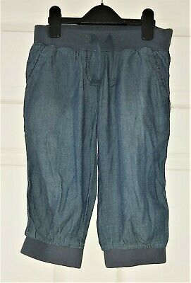 VGC Girls NEXT soft denim cropped trousers size 8 Years