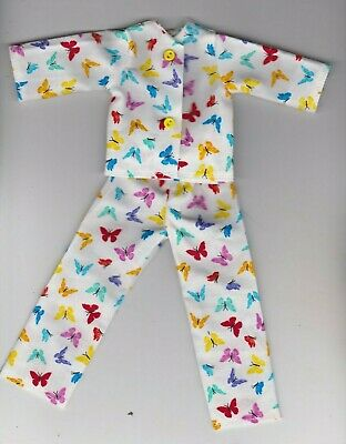 Doll Clothes-Beautiful Butterflies Print Pajamas fit Barbie-Homemade BP3