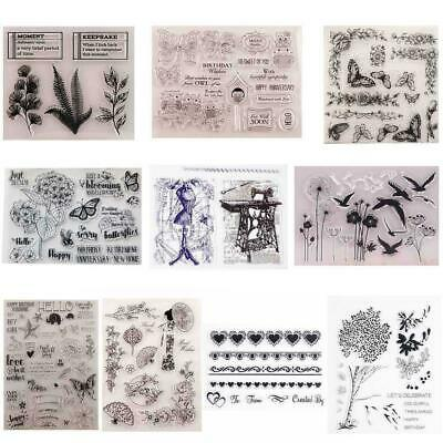 DIY Transparent Silicone Clear Stamp Cling Seal Scrapbook Super Embossing S5O9