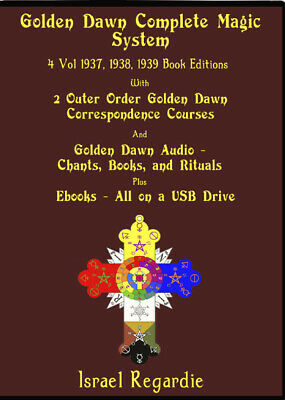 Golden Dawn Complete Magic System on USB Books, Magick, Audio, Regardie, Crowley