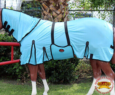 HILASON 66-84 Uv Protect Mesh Bug Mosquito Horse Fly Sheet Summer