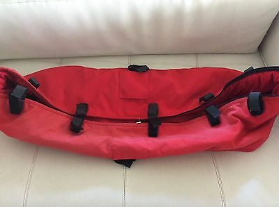 BUGABOO CAMELEON 3rd generation STROLLER BASSINET BABY CARRYCOT Red fabric