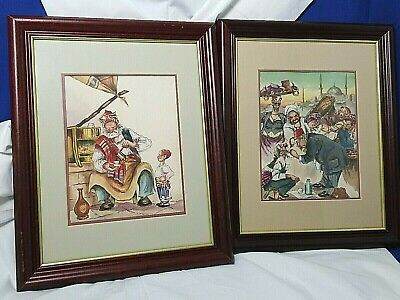1920's Constantinople Watercolors Pair Framed Matted C2