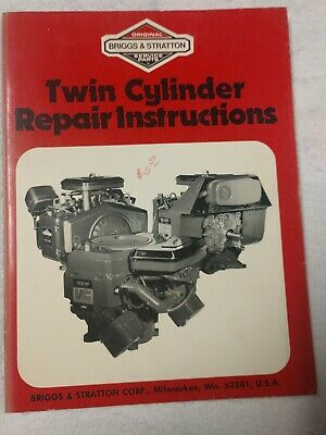 Briggs & Stratton Twin Cylinder Repair Instructions 271172-3/86 1J-2586-X17