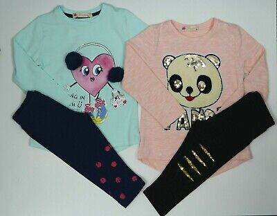 Girl outfit clothing long sleeve top and pants. Brand new set of two outfits.