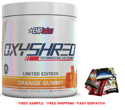 EHPlabs Oxyshred Orange Gummy Flavour 60 Serves Ehp Labs Limited Edition