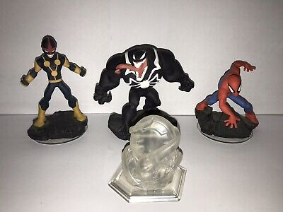 Disney Infinity 2.0 Spiderman Playset Venom Nova Crystal Figures Wii U