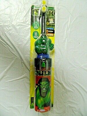 Vintage 2000 The Hulk Electric Toothbrush Factory Sealed Zooth Power Brush