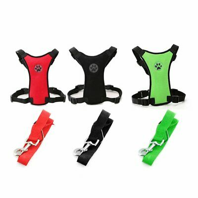Mesh Puppy Pet Dog Car Harness Seat Belt Clip Safety for Travel Dogs S/M/L Kit