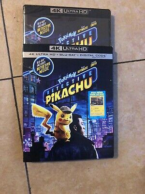 Pokemon Detective Pikachu 4K & Blu-ray never used only opened for digital code