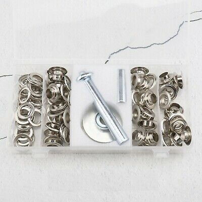 103pcs 12mm Metal Eyelets Grommet with Washer Punch Tool Set for Leather Canvas
