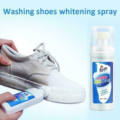 Whitener Cleaner Sports Leather Canvas Shoe Trainer 100ml B5P2 White Boot C V8P1