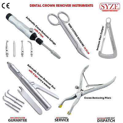 Dental Automatic Crown Remover Removing Tools Instruments Set Surgical Kit SYZE