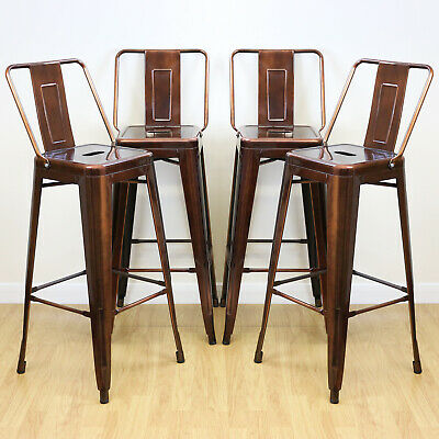 Copper Stools & Back Rests Industrial/Metal Breakfast Bar/Cafe/Bistro SALE #453