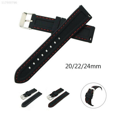 5369 Black 24-26mm Unisex Wrist Straps Watch Band Genuine Replacement Belt