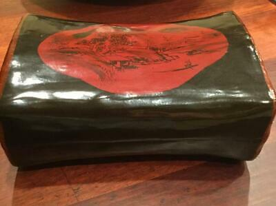 Chinese Laquer Pillow Box 9""