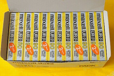12x MAXELL UR-F 90 Cassette Tapes 1986 + OVP + SEALED + RARE + IN BOX + TOP ! +