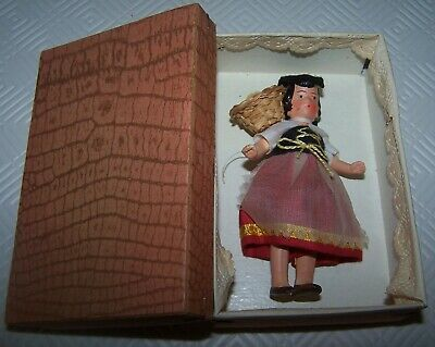 German Made Vintage Doll In Original Box & Costume - European Outfit