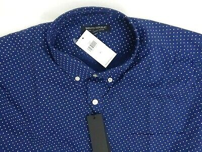 Banana Republic Men Shirt Slim Fit Tech-Stretch Cotton Blue M, L, XL Long Sleeve