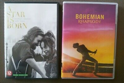 "Lot de 2 DVD ""A STAR IS BORN & BOHEMIAN RHAPSODY"" -"
