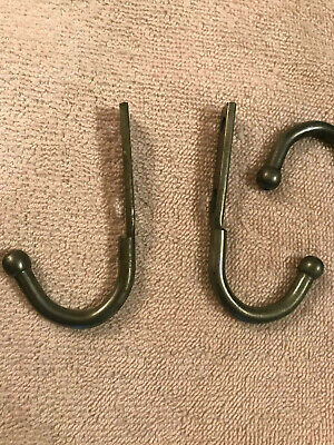 4 Old Steel Wall Mount Coat / Hat Hooks, Traces of Paint, Free S/H