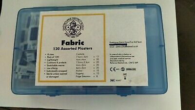 120 assorted fabric plasters