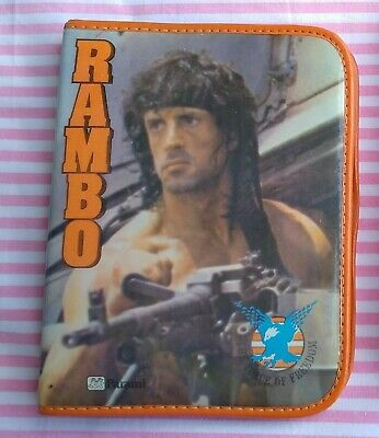 Trousse Vintage Pencil Case Rambo First Blood Part III 3 Stallone 1986