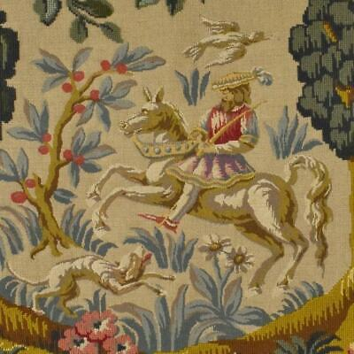 Superb Vintage French 'Aubusson' Tapestry Wall Hanging, Medieval Country Scene