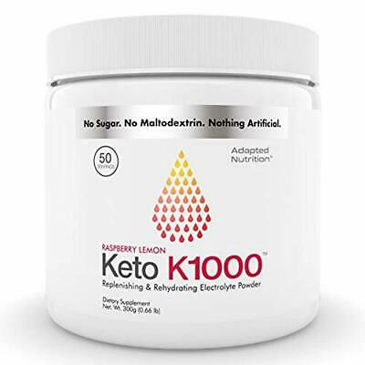 Keto K1000 Electrolyte Powder | Boost Energy Beat Leg Cramps | No Maltodextrin