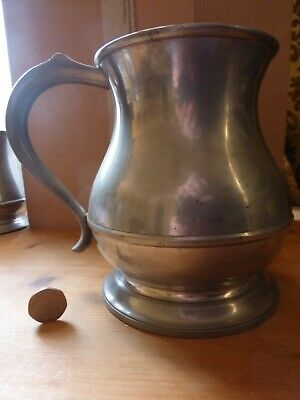 Large Tankard (1 Quart) pewter London made by Englefields