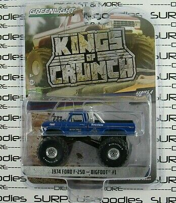 "Greenlight Kings of Crunch S4 1974 FORD F-250 BIGFOOT #1 66"" Tires Monster Truck"