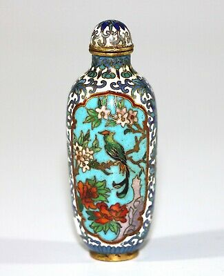 19th century Qing dynast  Chinese cloisonne snuff bottle 954A
