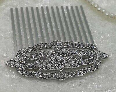 'Livia' Art Deco Vintage Style Crystal Bridal Hair Comb 1920s Bridesmaid Flapper