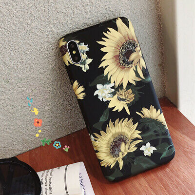 Phone case for iphone iphone XS MAX XR X 8 7 6 plus Retro Flower Leaf soft Cover