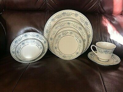 Noritake Blue Hill 2482 Contemporary Fine China Complete 7-Piece Place Setting