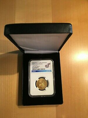 Apollo 11 2019 Gold Robbins Medallion Restrike - NGC PF70 - First Day of issue
