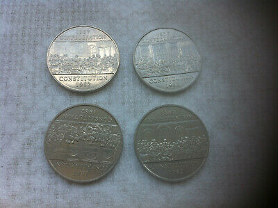 1982 Canada One Dollar (Confederation Constitution) 4 Coins