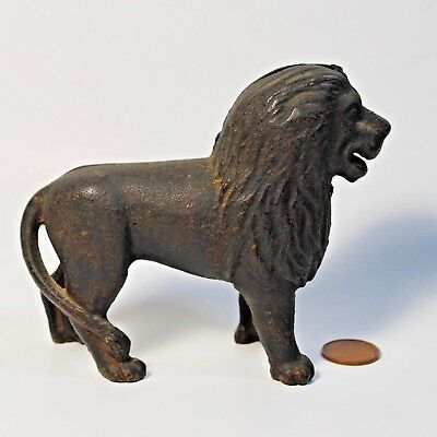 Antique/Vintage Cast Iron Still Bank Lion by A.C. Williams Circa Early 1900s