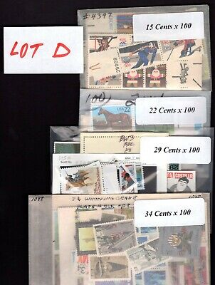 US Postage Below Face, $100 for only $69.95, FREE SHIPPING, Mint stamps,  Lot D