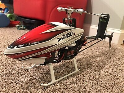 ALZRC DEVIL 450 Pro V2 RC Helicopter Fiberglass Canopy Red White BNF