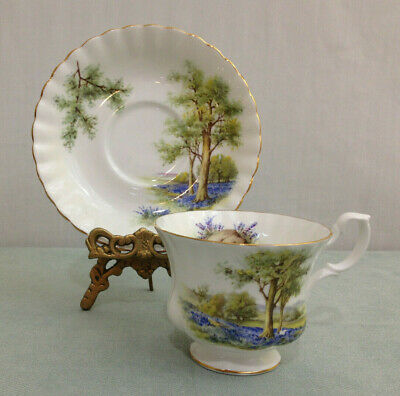 Royal Albert Vintage  Country SceneTea Cup And Saucer Set