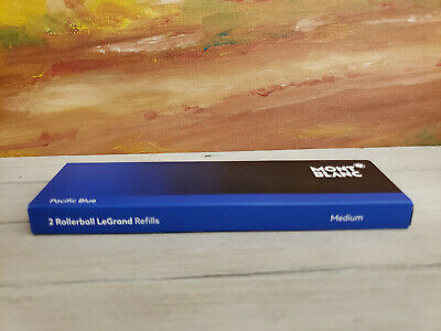 MONTBLANC Pacific Blue Medium Point Rollerball Refills - For LeGrand 162