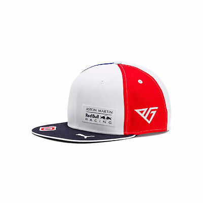 2019 Aston Martin Red Bull Racing Gasly France Flat Brim Cap NEW
