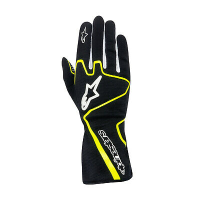 Alpinestars TECH 1-K RACE black/yellow Karting Gloves - Genuine - XL
