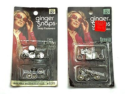 NOS Vintage Ginger Snaps PEARL SNAP FASTENERS Buttons Western Shirt Scovill USA