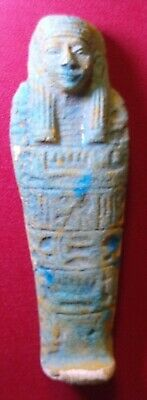 EGYPTIAN AMULET, USHABTI AMULET FAIENCE, 110 mm, READ DESCRIPTION
