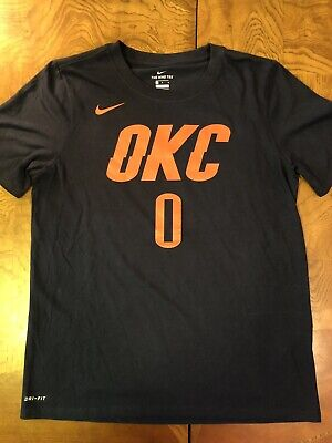 low priced 86c55 b6c47 RUSSELL WESTBROOK NIKE Dri-Fit T-Shirt Boys Large OKC Houston Rockets